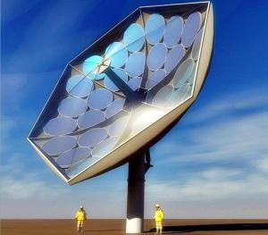 Energia Solar Fotovoltaica Concentrada – Projeto Artístico do Protótipo de Sistema HCPVT em desenvolvimento (crédito: IBM)