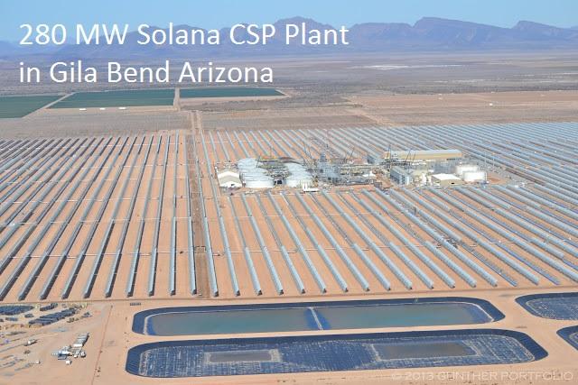 Energia Solar Térmica Concentrada Solana Entre em Operação (Fonte: APS)