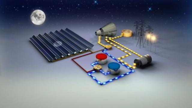 Energia Solar Térmica Concentrada Solana Gerando Eletricidade à Noite (Fonte: APS)