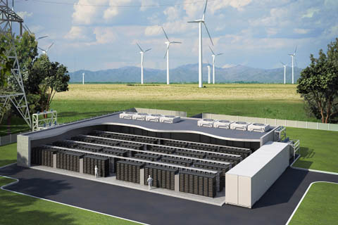 Armazenar Energia Eólica usando Conjunto de Baterias (Fonte: NREL)