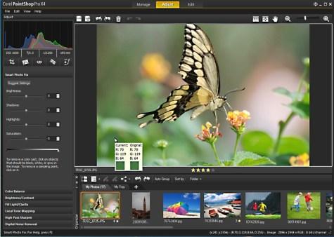 Corel-PaintShop-Pro-X4-Adjust-Workspace