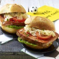 Leberkaese Burger - For Oktoberfest or Soccer Games