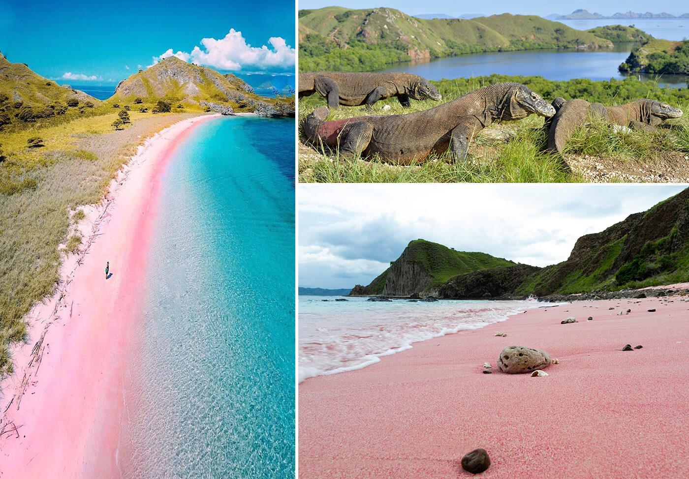A glass railing and sleek light fixtures help crea. Mybestplace Pantai Merah The Pink Beach Of Indonesia