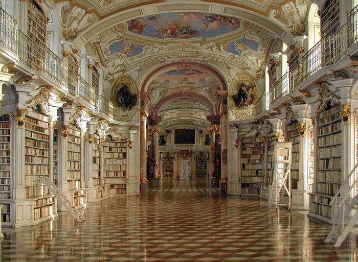 Библиотека-аббатства-Ad-Mont-Австрия