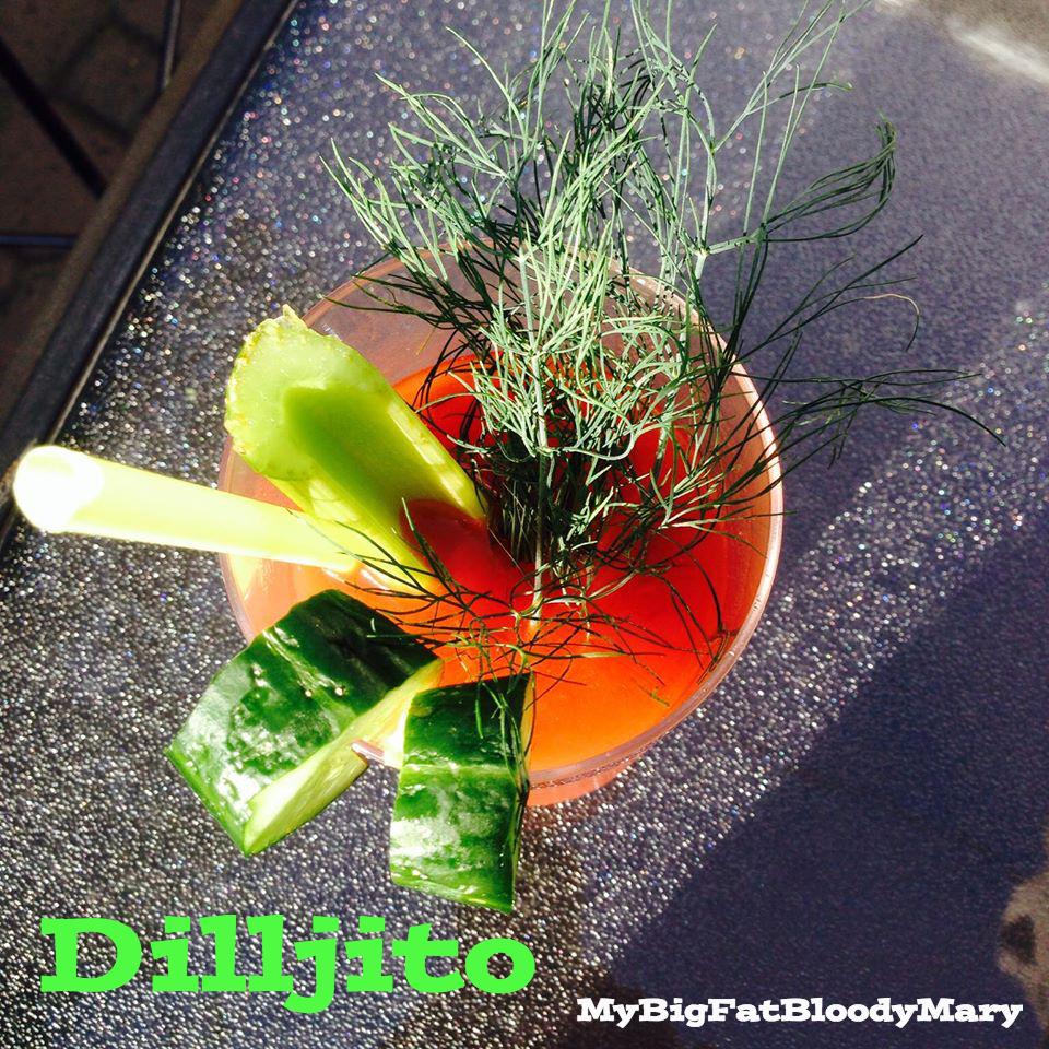 dilljito bloody Mary recipe