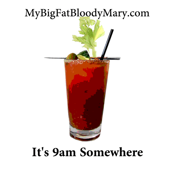It's 9am Somewhere bloody Mary sticker