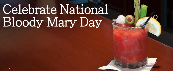 National Bloody Mary Day – New Year's!