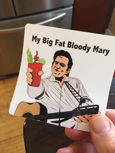 My Big Fat Bloody Mary Sticker