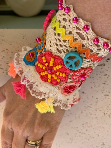 Flowered Cuff Tutorial Pic 11