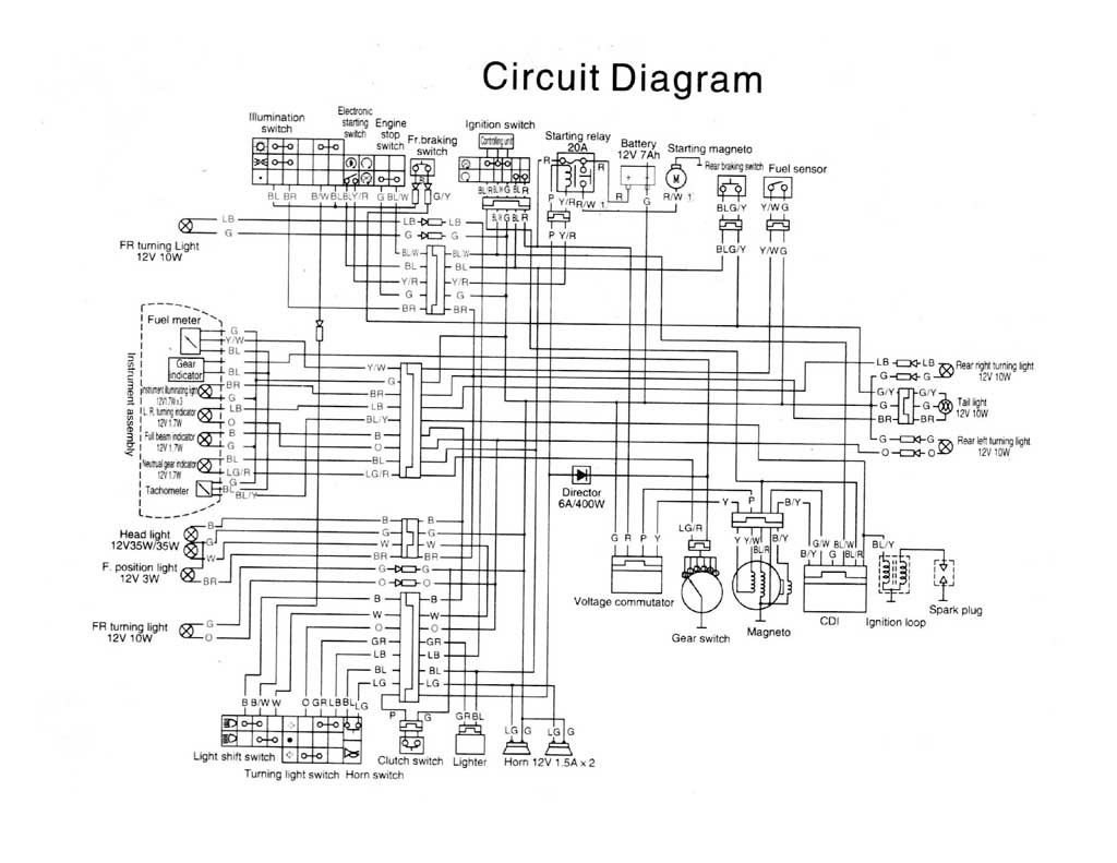 2013 Kymco Motorcycle Wiring Diagram Z200 Wiring Diagram Street Bikes