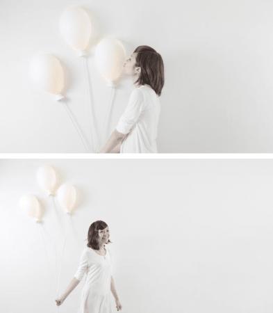 lampada a forma di palloncino