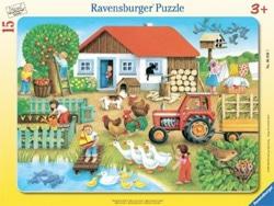 puzzle 15 pezzi fattoria animali