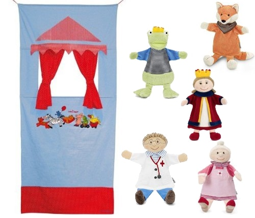 teatrino per bambini tenda