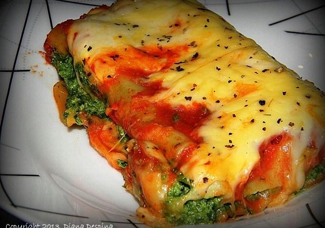 Cannelloni cu spanac