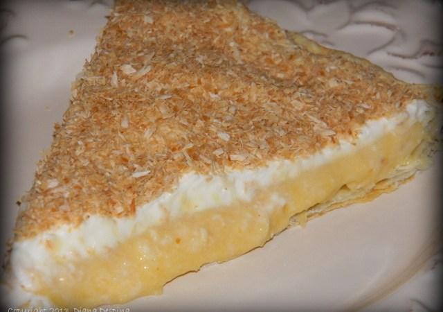 Tarta cu crema de lapte si nuca de cocos