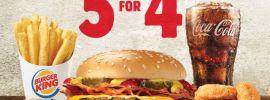 Burger King 5 for $4