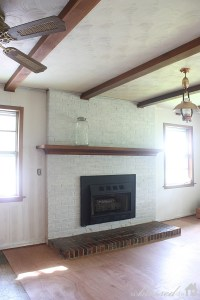Amazing Fireplace Transformation {Before & After}