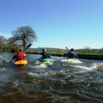 On the Llangollen Canal - making waves