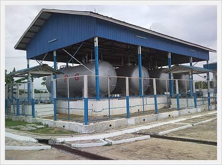 Setup cooking gas plant
