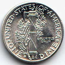 fasces nickel coin
