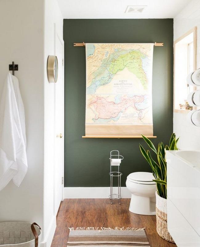 Du Vert Kaki Pour Decorer Les Toilettes My Blog Deco