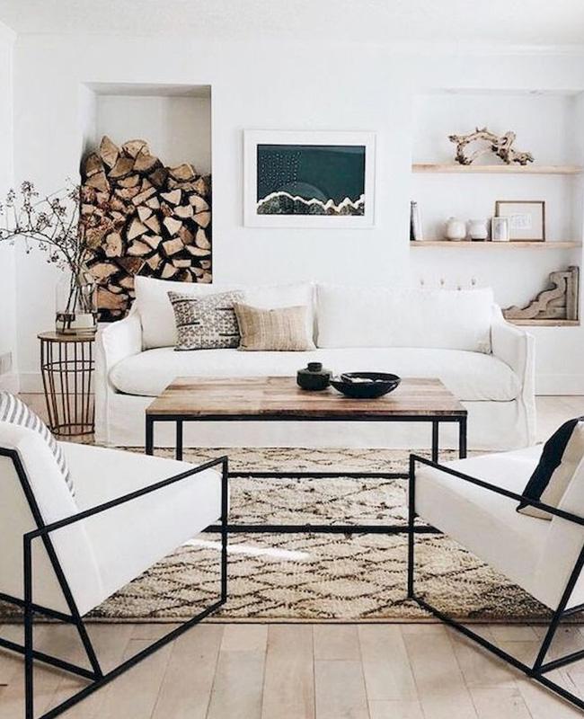 une deco moderne en beige dans le salon