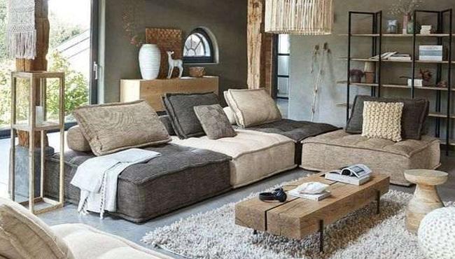 cosy dans le salon avec du bois