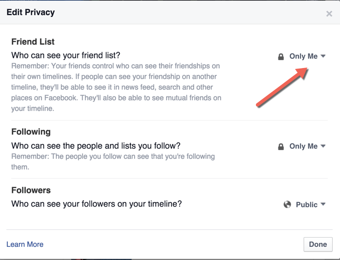 Facebook-How to hide friends on facebook