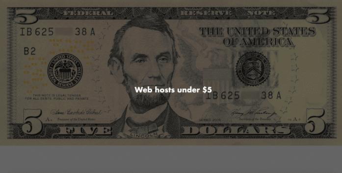 web hosting services under $5