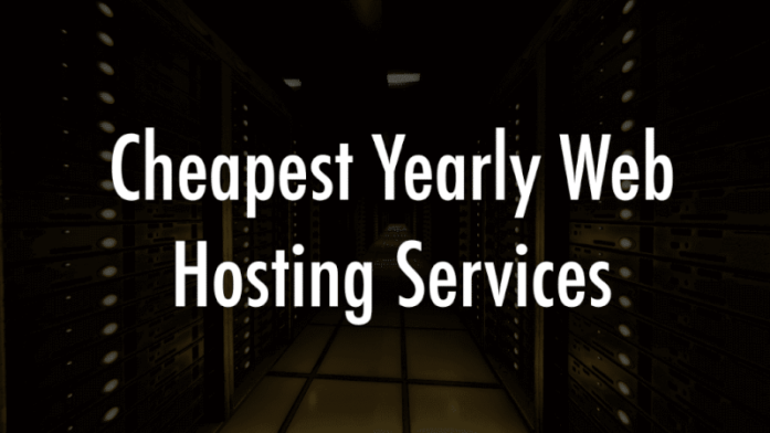 Cheapest yearly web hosting services