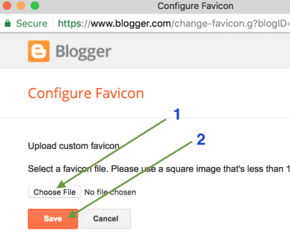 Favicon upload