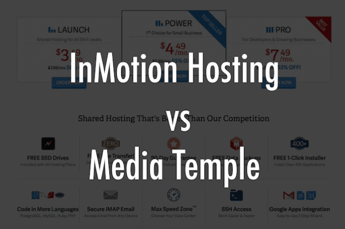 InMotion vs Media Temple