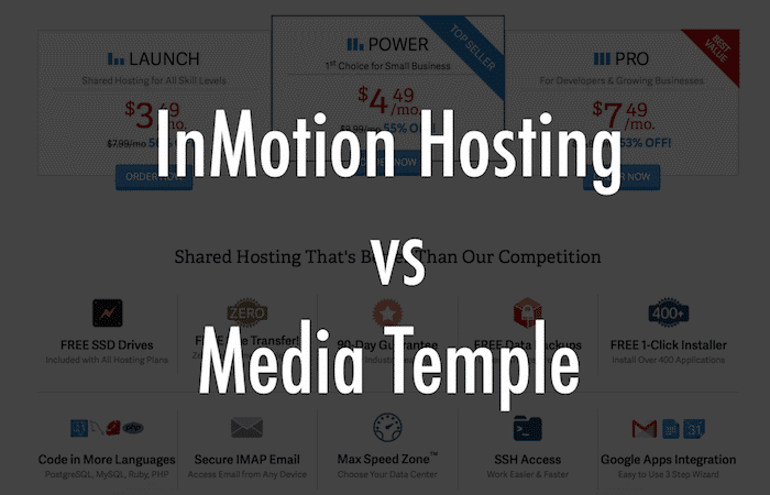 InMotion vs Media Temple