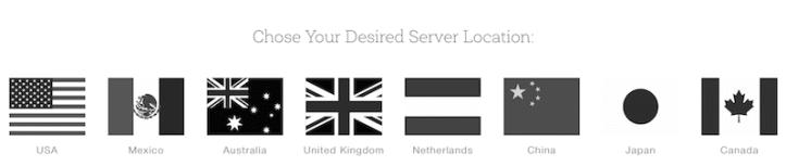 Chose your server location