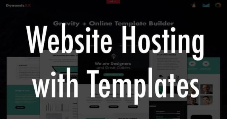Web Hosting with Templates