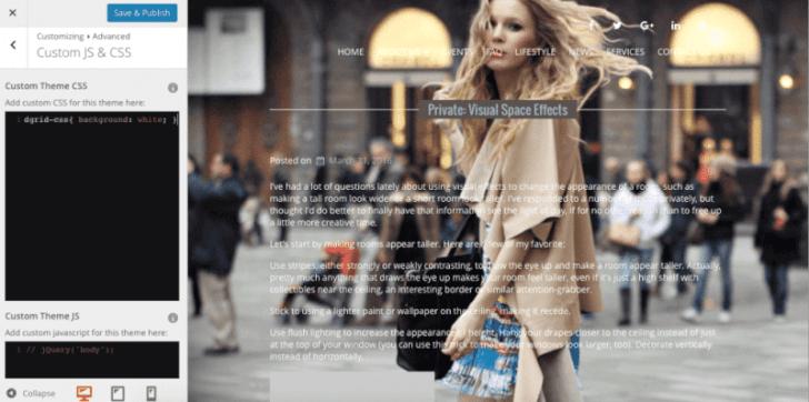 how to add custom CSS