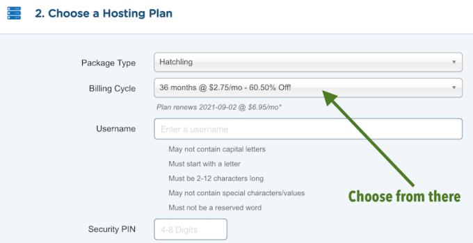 HostGator billing cycles