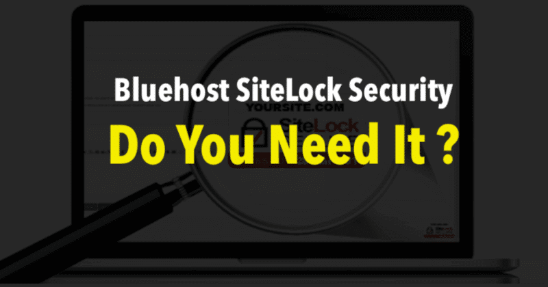 SiteLock Security on Bluehost
