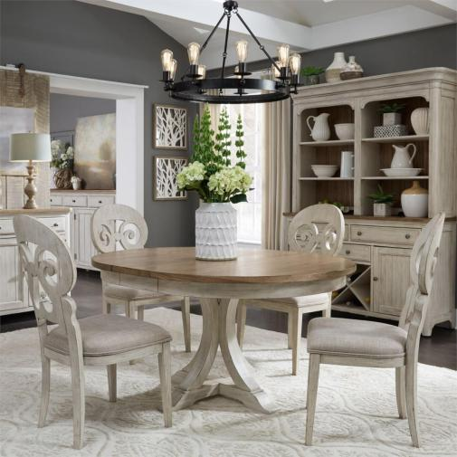 Our Favorite Farmhouse Dining Sets For, Round Farmhouse Kitchen Table Sets