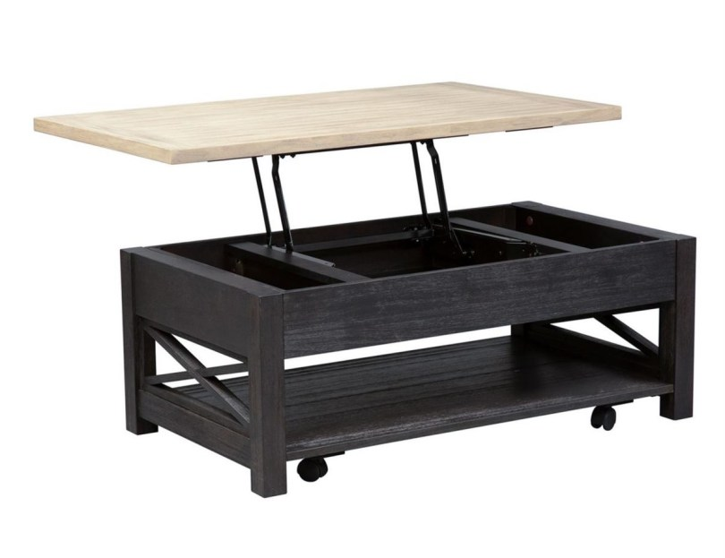 Two Tone Lift Top Coffee Table