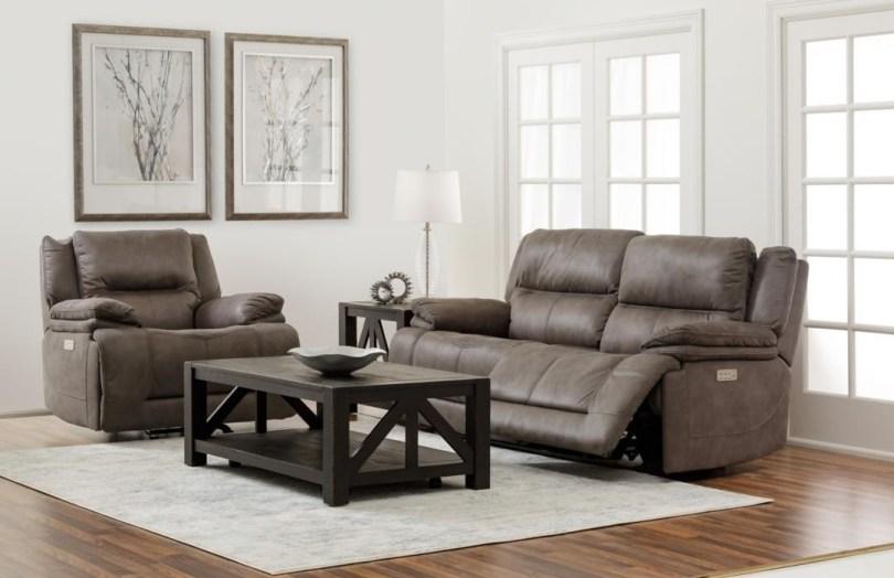 Carter Power Reclining Sofa & Recliner