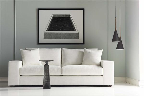 High-End White Modern Sofa with Modern Decor