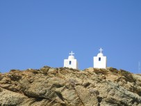 Some small twin churches on the cliff