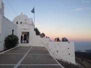 Panagia church. People gathers to see the famous sunset