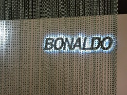 Bonaldo through an aluminum curtain