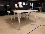 Fantoni's working station. Set your prefered high of your desk