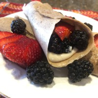 Banana Crepes with Macadamia Cream