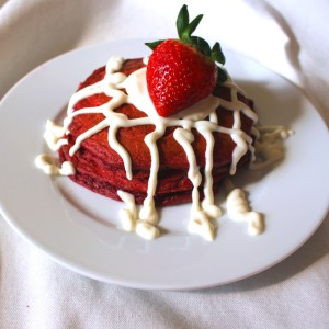 Red Velvet Pancakes made with beets and oatflour; gluten free