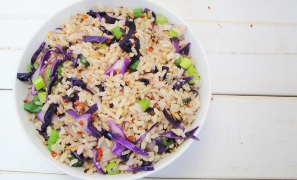 red-cabbage-rice-green-onions-brown-rice