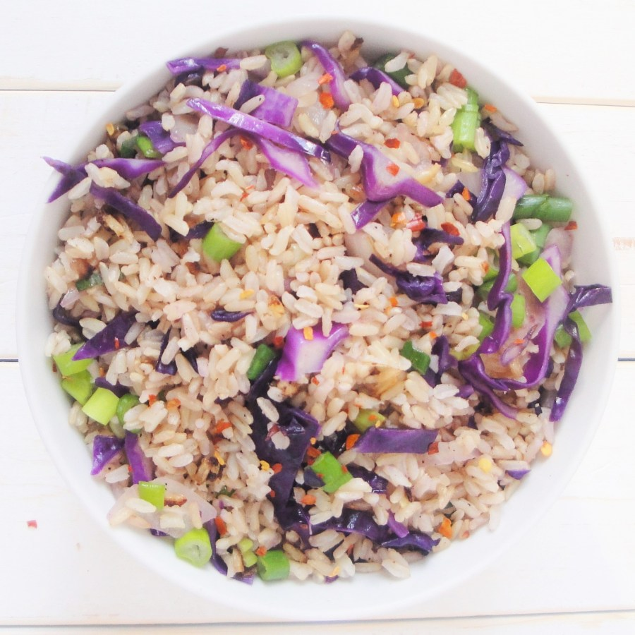 red-cabbage-rice-green-onions-brown-rice-top
